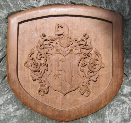 v Eckhardt Coat-of-Arms page of Legacy Crests by Embry McKee, creator of hardwood designs of family crests, corporate logos, college and university logos, sports insignia, heraldry, etc.