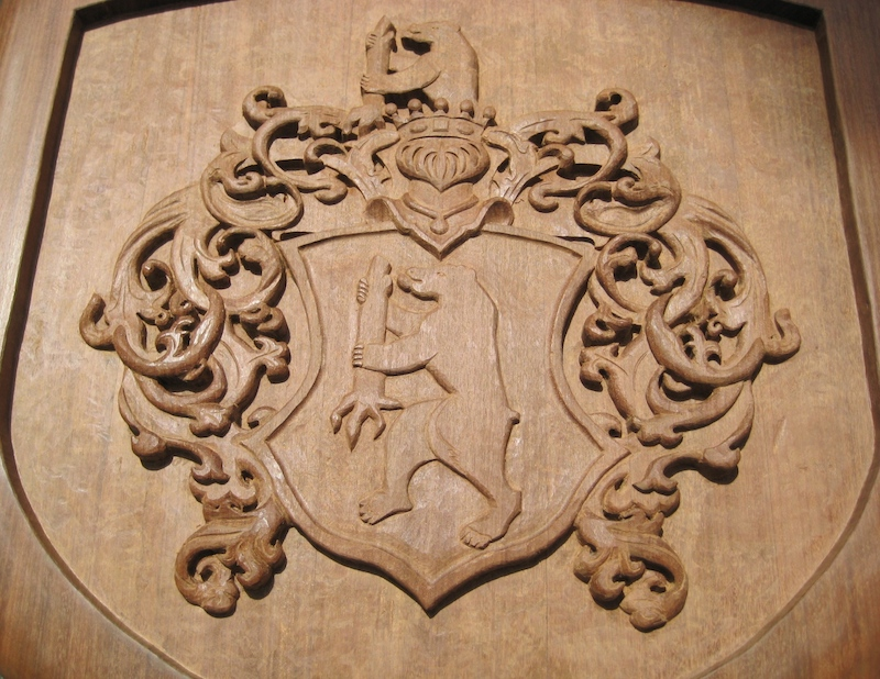 v Eckhardt Coat-of-Arms, by Embry McKee of Legacy Crests, makers of custom handmade wood school, family, and corporate crests, logos, devices, and signs from exotic hardwoods, any size or design, to your specification.